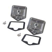 Folding T Handle Lock Stainless Steel Flush Mount Tool Box Lock Trailer Truck Paddle Latch Lightweight Vehicle Accessories