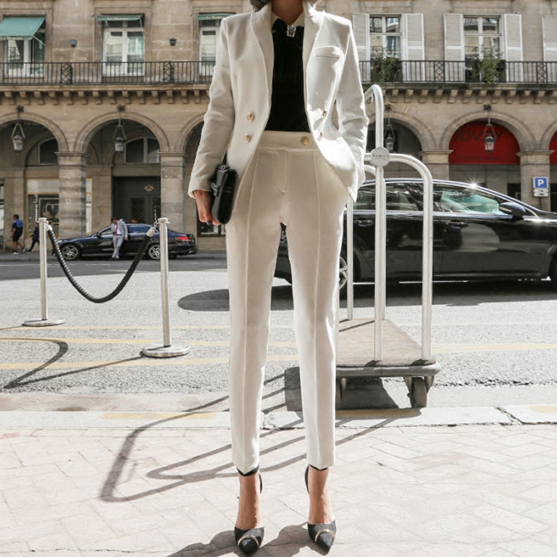 2019 Spring and Autumn Fashion Casual Slim Suit Female Korean Version of The Temperament Small Suit Jacket Business Women's Suit