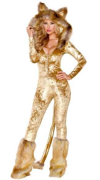 Пикантные для взрослых для женщин костюмы на Хэллоуин Мех животных ry  Бархат искусственный животных Лев косплэй c675d805a2a40