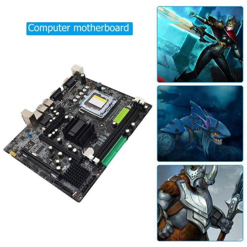 VAKIND G31 SATA2.0 667/800 MHz Carte Mère Pour Intel 945GC 945 ICH Chipset Pour LGA 775 Double Canal DDR2 mémoire Carte Mère Chaude