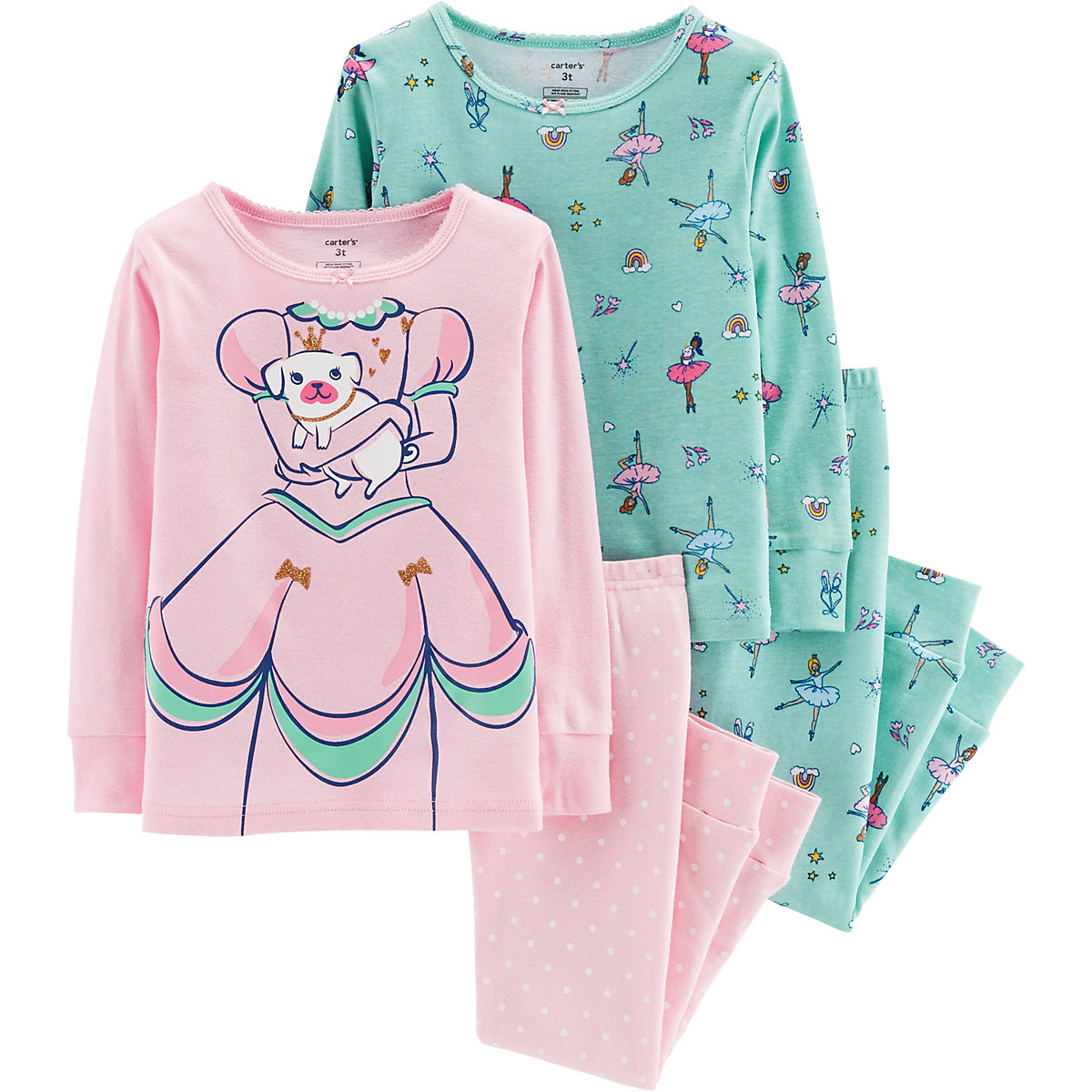 Carter's Pajama Sets 10267074 pajamas for girls baby clothes for sleeping girl new year family christmas pajamas costumes infant toddler baby girls christmas dress outfits girl party dress baby rompers