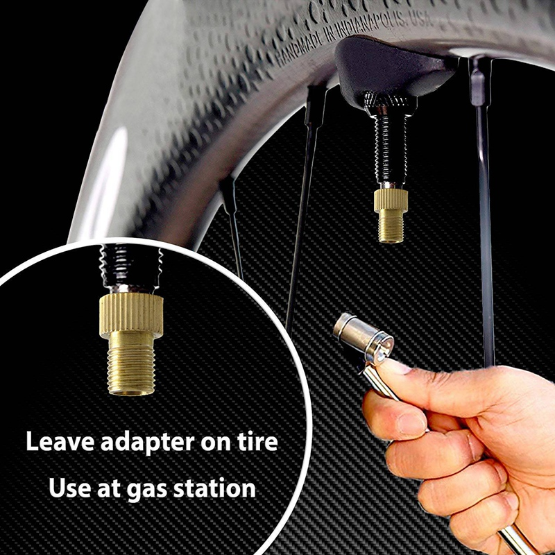 4Pc Aluminum Alloy Bike Valve Adapter Bike Inner Tube Caps Cover Adapter Racing Bicycle Inflate Tire Part Bike Accessories    #8