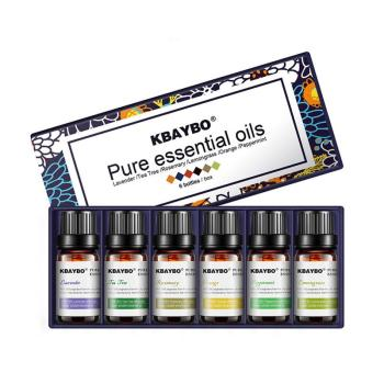 6Pcs/set 100% Pure Natural Aromatherapy Oils Kit For Humidifier Water-soluble Fragrance Oil Massage Essential Oil Set 10ml