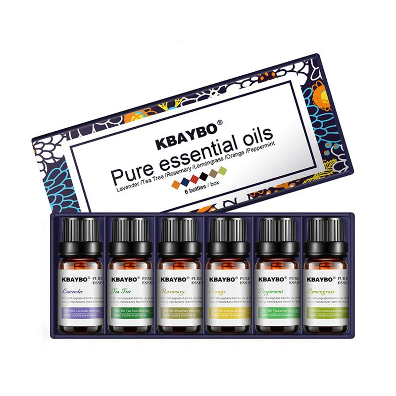 6Pcs/set 100% Pure Natural Aromatherapy Oils Kit For Humidifier Water-soluble Fragrance