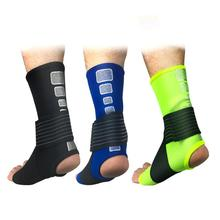 1 Pcs Pressurizable Bandage Ankle Support Protect Basketball Anti Sprain Ankle Guard Warm Brace Moisture Absorption Soft Bandage 1pcs ankle support brace stirrup sprain stabilizer guard ankle sprain aluminum splint