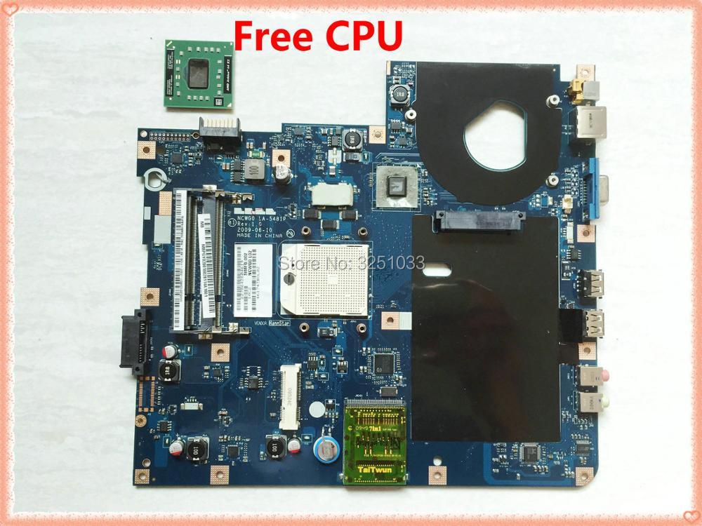 LA 5481P For Acer aspire 5516 5517 5532 Laptop Motherboard MBPGY02001 NCWG0 LA 5481P Motherboard DDR2