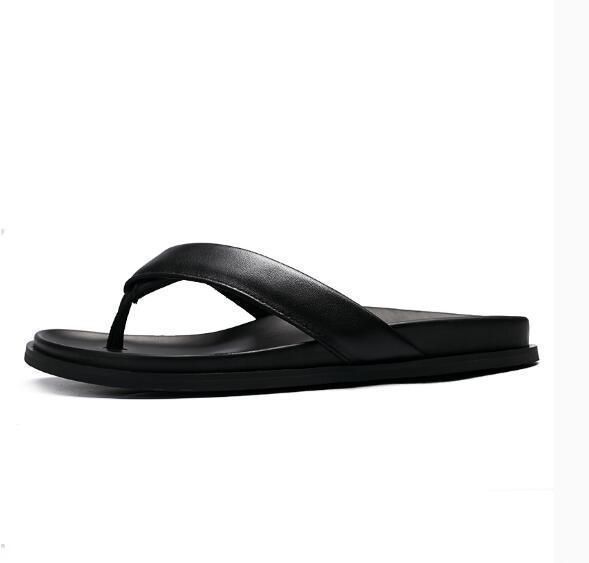 2 Estilo Quente Aleta Roma Para 3 Verão Praia Homem Sapatos Chinelos Preguiçosos Falhanços De Sandálias Homens 1 Pretos 4UwqnOZ