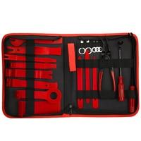 19pcs/set Car Trim Removal Tool Set Pry Bar Panel Door Interior Hand Tools Kit Disassembly Tools Set With Storage Bag
