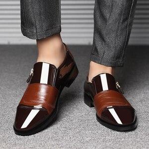 Image 2 - UPUPER 클래식 비즈니스 남자 드레스 신발 패션 우아한 공식적인 결혼식 신발 남자 슬립 사무실 옥스포드 신발 남자 블랙