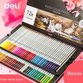 Набор водорастворимых карандашей Deli  профессиональные цветные карандаши 24/36/48/72 для раскрашивания  набор карандашей для рисования  школьны...