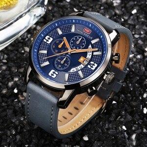 Image 3 - Mini Focus Sport Horloge Voor Mannen Luxe Casual Chronograaf Horloges Quartz Heren Horloge Lederen Top Merk Luxe Militaire