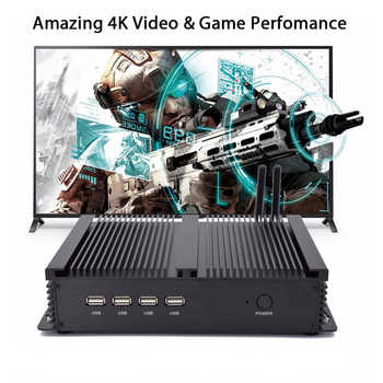 Fanless Industrial PC,Mini Computer,Windows 10 Pro/Linux ,Intel Celeron 1037U,[HUNSN MA03I],(1VGA/1HD/4USB2.0/4USB3.0/2LAN) - DISCOUNT ITEM  26 OFF Computer & Office