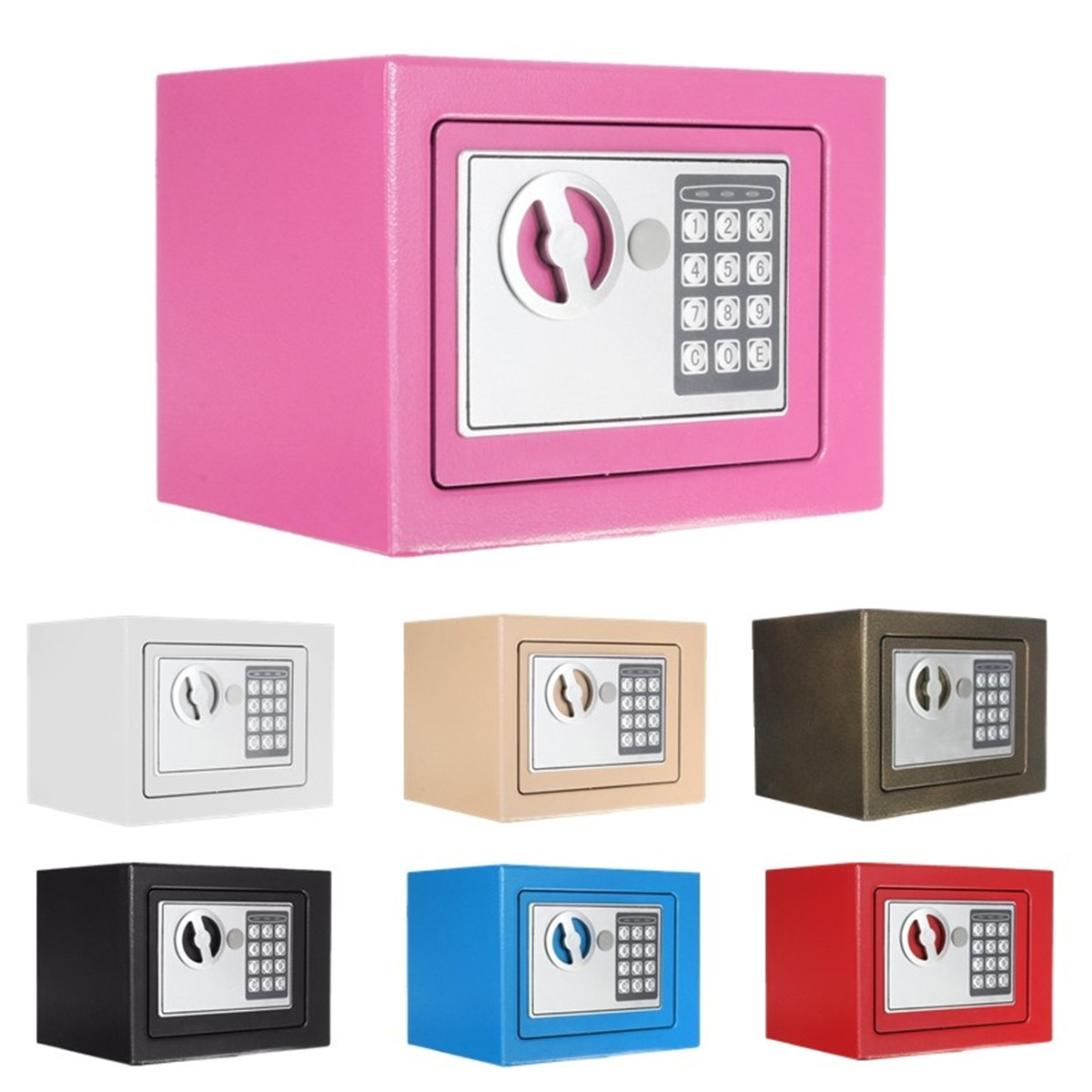 New Electronic Safe Box Digital Security Keypad Lock Office Home Hotel Fireproof Digital Entry Security Box With Two KeysNew Electronic Safe Box Digital Security Keypad Lock Office Home Hotel Fireproof Digital Entry Security Box With Two Keys