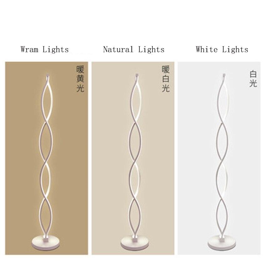 Modern LED Floor Lamps Iron Floor Lights Rotating Standing Lights Dimming Switch StudyBedroom Living Room Standing Lamps Decor in Floor Lamps from Lights Lighting