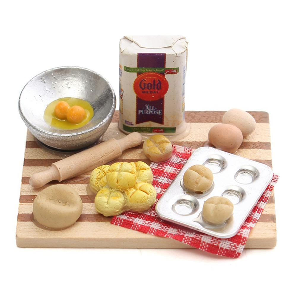 Kids Girls Wooden Pretend Simulation Plastic Kitchen Play Food Toys Miniature Cooking Toys Play House Fruit Egg Toy