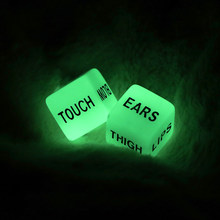 2pcs Funny Glow in Dark Love Dice Toys Adult Couple Lovers Games Aid Sex Party Toy valentines day gift for boyfriend girlfriend(China)
