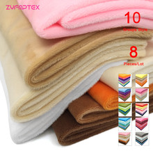 ZYFMPTEX 2019 New Arrival 8Pcs/Lot 100 Polyester 1.5mm Pile Minky Plush Fabric For DIY Sewing Patchwork telas Velvet Fabric