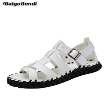 US Size New Fashion Narrow Band Men Sandals Rome Style Cross-tied Summer Man Beach Shoes