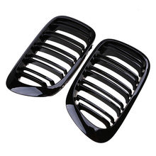 2pcs ABS Gloss Black 2 Door 2D Coupe Kidney Grille Grill For 1998-2001 BMW E46 Hot For BMW 3-Series BMW M3 Cabrio 2001-2006 электромобили hebei bmw 2 series coupe