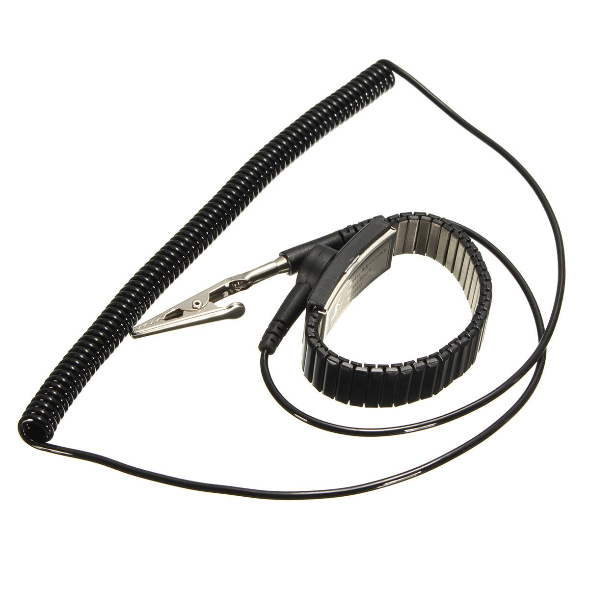 Intellective New Anti Static Esd Adjustable Wrist Strap Discharge Belt Ground Metal Bracelet Pesonal Safety Protector