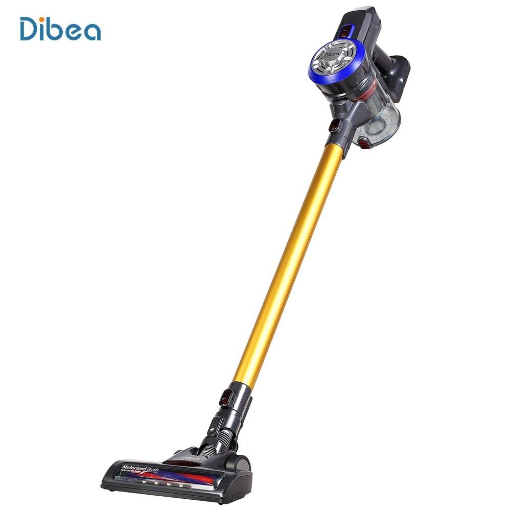 Dibea 2-en-1 ménage aspirateur léger sans fil à main bâton aspirateur avec LED lumières brosse 9000 Pa XJ