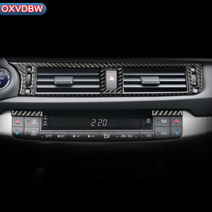 Для LEXUS CT200h F-SPORT LHD RHD аксессуары из углеродного волокна для салона автомобиля центральный выход кондиционера декоративная крышка наклейка