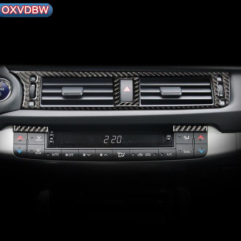 For LEXUS CT200h F SPORT LHD RHD Accessories Carbon Fiber Car Interior Central Air Conditioner Outlet Decorative Cover Sticker|Automotive Interior Stickers| |  - title=