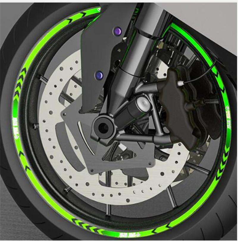 Car Wheel Reflective Strips Stickers Motorcycle Tyre Decoration Sticker Motocross Bike Wheels Rims Tape Decals Car Styling R20