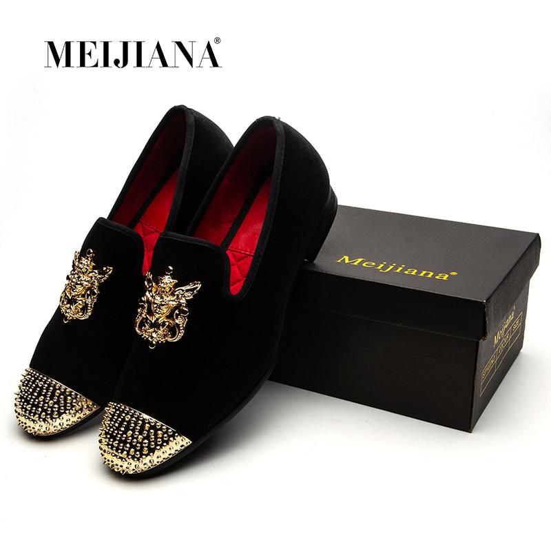 MEIJIANA Handmade Shoes Men Loafers Luxury Brand Men's