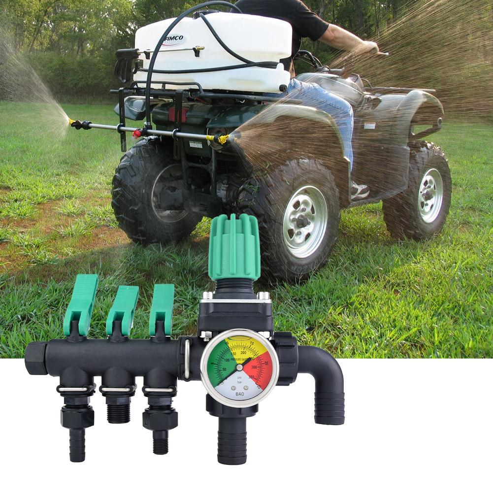 3 Way Water High Voltage Shunt Separator Agricultural Spray Machine Fight Drugs Control Valve Switch Regulated
