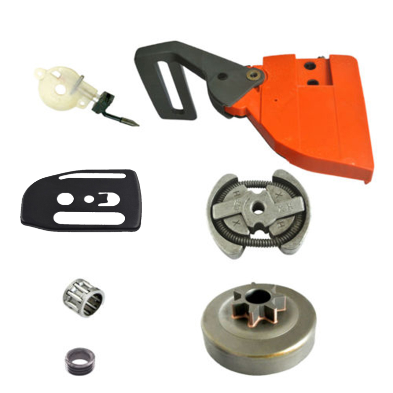 Clutch Drum Needle Bearing Oil Pump Chain Brake Handle Chainsaw Replace Part Set Fit For Husqvarna 136 137 141 142