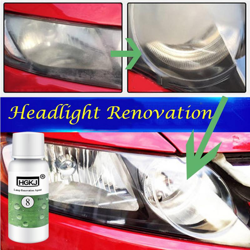 20ml Car Vehicle Headlight Lamp Lens Polish Cleaner Liquid Restoration Kit Auto Light Polishing Repair Coating Agent Set Hgkj 8