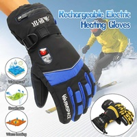 Winter Hand Warmer Electric Thermal Gloves Waterproof Heated Gloves Cycling Motorcycle Heating Ski Gloves Unisex M/XL 1 Pair