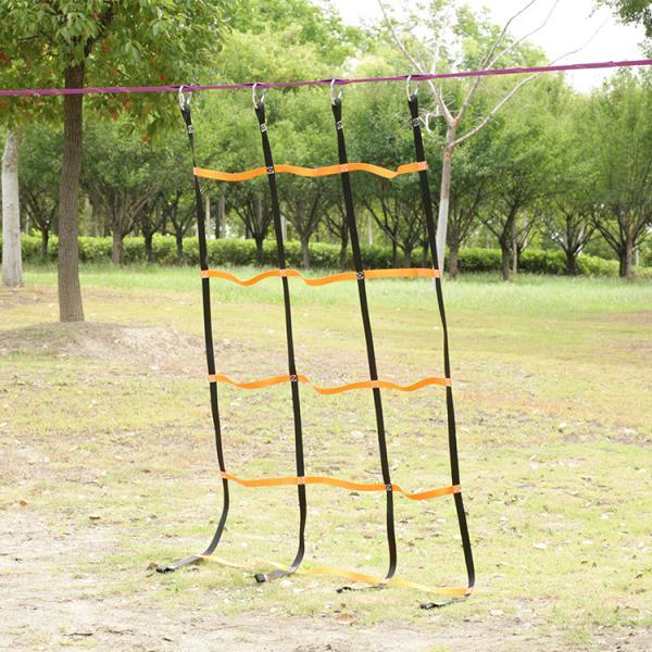 Kids Outdoor Gym Sports Children Climbing Net Mesh Ropes Backyard Game