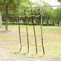 Kids Outdoor Gym Sports Children Climbing Net Mesh Ropes Backyard Game