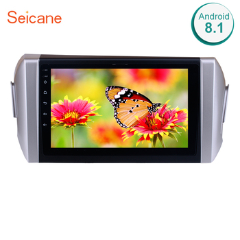 Seicane GPS 2din Android 8.1 WIFI Bluetooth 9 Inch HD Touchscreen Car Stereo FM/AM Radio For 2015 Toyota INNOVA Left Hand Drive image