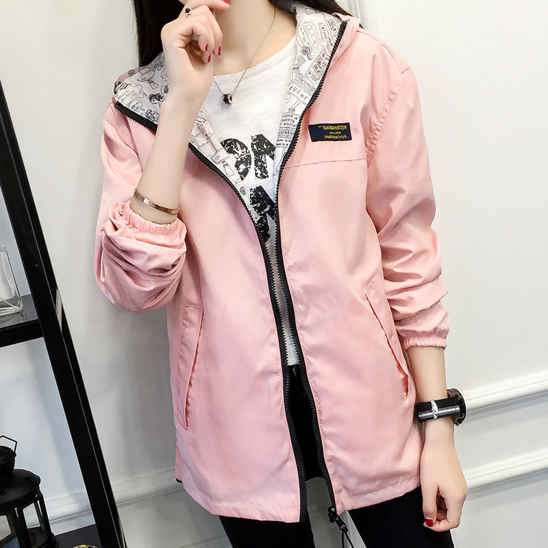 XUXI Women Hooded   Jackets   2019 Summer Autumn Causal Windbreaker Girl   Basic     Jackets   Coats Famale Zipper Lightweight   Jackets   FZ162