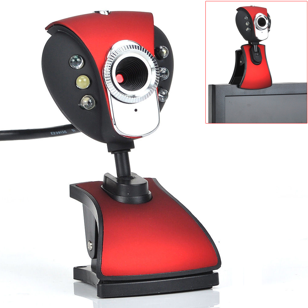 New USB 500 6-LED Webcam Camera Webcam With Miniphone For PC Laptop Omnidirectional Microfono Inalambrico Professional
