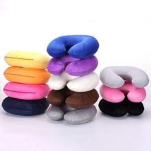 Sale 1PC Headrest Soft U Shaped Cushion Air Flight Inflatable Pillows Car Nursing Cushion Travel Pillow  Support Neck