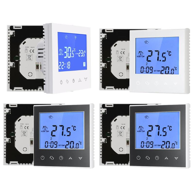 LCD Touch Screen Smart WiFi Big Digital Temperature Thermostat Touch Screen Warm Floor Heat Controller Thermostat hf 0 56 red lcd 2 0 4 digital thermostat temperature controller dark blue black 24v