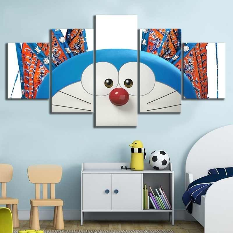 Home Decor Canvas Picture 5 Piece Stand By Me Doraemon Animation Painting Poster Wall For Home Canvas Painting Wholesale Painting Calligraphy Aliexpress