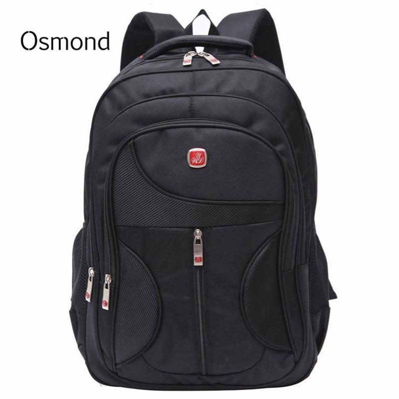 Laptop Rucksack Notebook Computer Nylon Backpacks School-Bags Business Travel Students