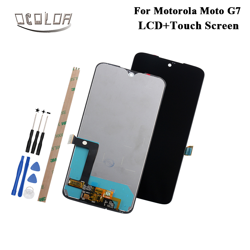 ocolor For Motorola Moto G7 LCD Display and Touch Screen With Tools And Adhesive For Motorola Moto G7 Mobile Phone Accessories