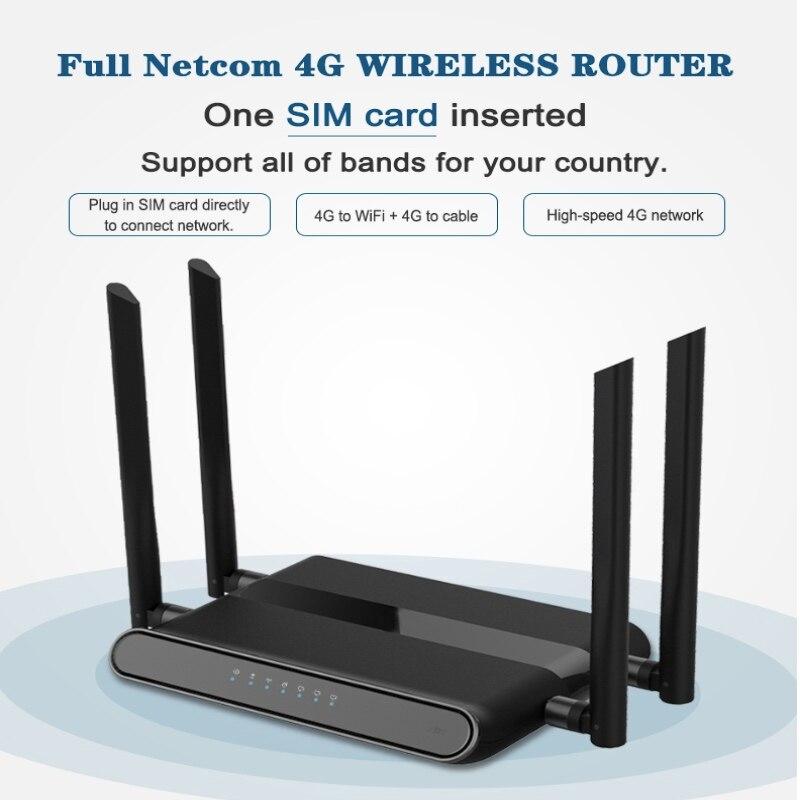 Routeur Wi-Fi 300 mbps avec emplacement pour carte sim et 4 antennes 5dbi prenant en charge vpn pptp et l2tp, routeur modem wifi 4g lte