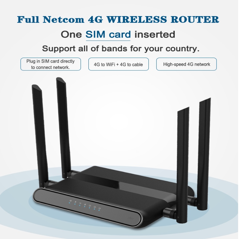 Wi-Fi Router 300mbps With Sim Card Slot And 4 5dbi Antennas Support Vpn Pptp And L2tp, Wifi 4g Lte Modem Router
