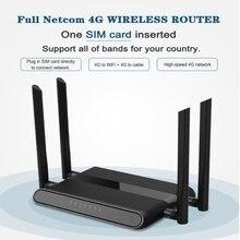 Wi Fi yönlendirici 300mbps sim kart yuvası ve 4 5dbi antenler destek vpn pptp ve l2tp, wifi 4g lte modem yönlendirici