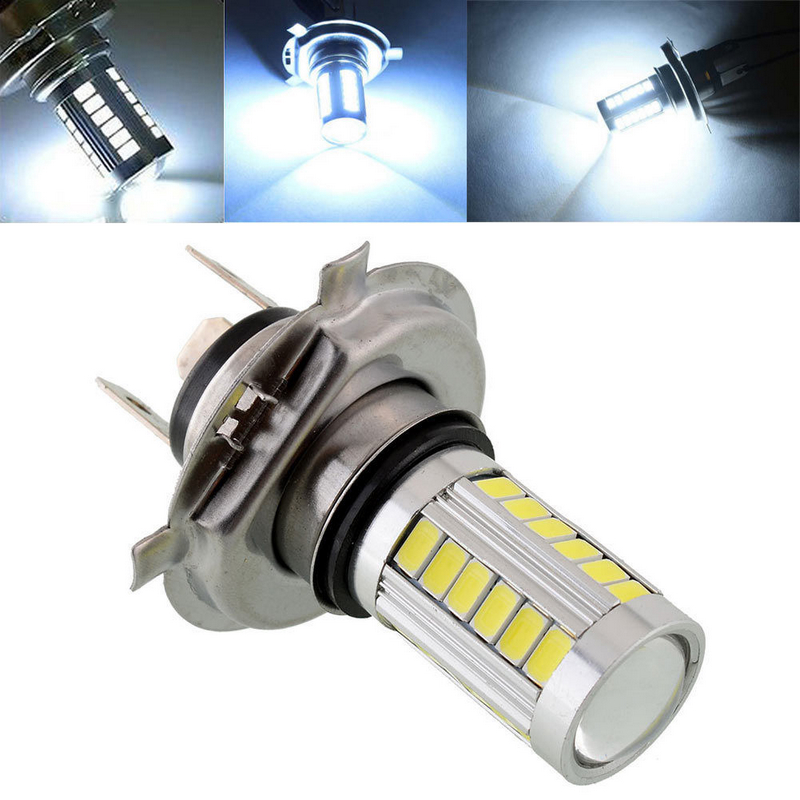 JX-LCLYL 1pc H4 5630 33LED 12V High Brightness Car Fog Light Headlight Bulb White image