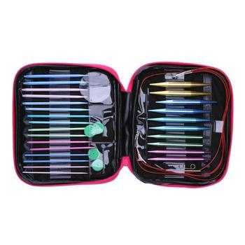 かぎ針フックセット 26 個円形 DIY ニット針変更ヘッド針女性の Diy クラフト縫製アクセサリーケース