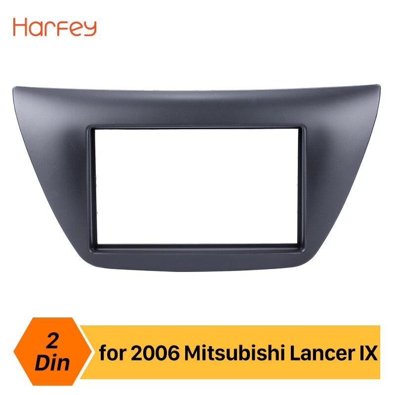 Harfey 2Din autoradio Fascia pour 2006 Mitsubishi Lancer IX Surround lecteur DVD kit d'outils pour habillage plaque panneau stéréo Indash Dash kit