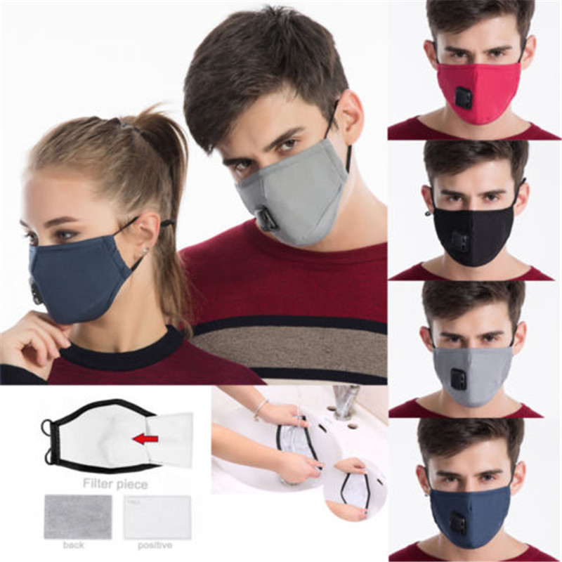 Fashion Washable Cotton Anti-dust Face Mouth Mask Breathable Filter Respirator Mask For All